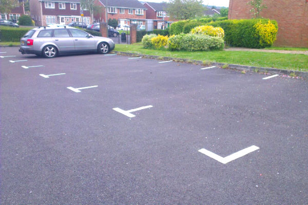 Car park markings highway safety supplies for Cost to paint parking lot lines
