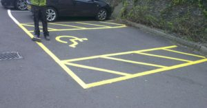 car park marking Wall