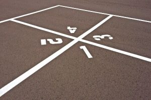 Playground markings Rednal